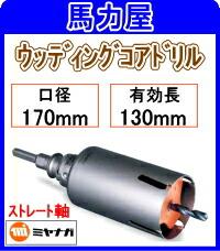 ミヤナガ ウッディングコアドリル170mm ストレート軸 [PCWS170]