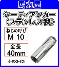 サンコーテクノ シーティアンカーSCT-1040 【50本入】ミリねじ (ステンレス製)