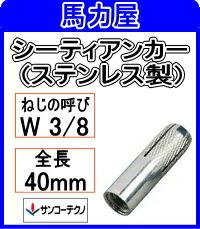 サンコーテクノ シーティアンカーSCT-3040 【50本入】ミリねじ (ステンレス製)