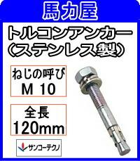 サンコーテクノ トルコンアンカーSTCW-1012【30本入】 (ステンレス製)