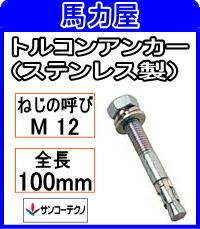 サンコーテクノ トルコンアンカーSTCW-1210【25本入】 (ステンレス製)