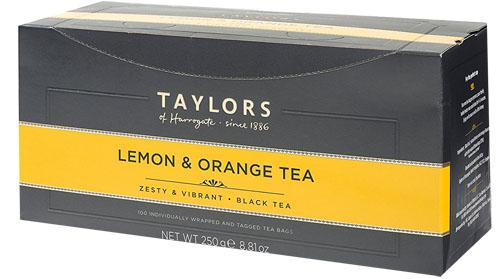 お洒落なラミネート包装は風味が長持ち ギフトにも最適 ブラックティーにレモンとオレンジの香油でフレーバーリング 気分を爽快にしてくれます 人気No.1 オレンジ100ティーバッグ ハロゲイト テイラーズ 紅茶レモン オブ 迅速な対応で商品をお届け致します お気に入り