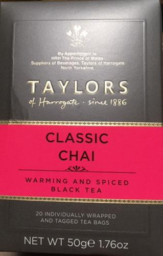 毎日激安特売で 営業中です 紅茶に甘草 ジンジャー カルダモン ナチュラルオイルをブレンド 英国では大人気 20pクラシックチャイ テイラーズオブハロゲイト 新色追加して再販