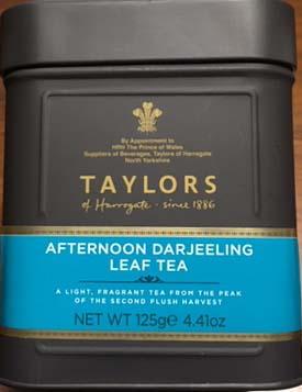 セカンドフラッシュに摘まれた最高級のダージリンです テイラーズ 商い 新品 ハロゲイト紅茶125gダージリンリーフ缶入り オブ