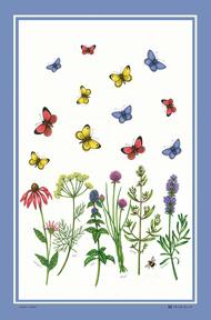 ティータオルは日本では馴染のない言葉ですが 英国の家庭では当たり前 使う方のセンスが生かされます 麻55%コットン45% Butterflies 上品 定形外郵便で送料無料 数量限定アウトレット最安価格 McCAW社ティータオル※Herbs