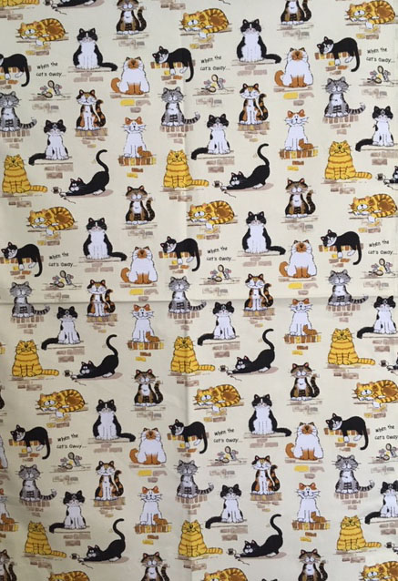 輸入 ティータオルは日本では馴染のない言葉ですが 英国の家庭では当たり前 使う方のセンスが生かされます リネンユニオン [正規販売店] 綿100% 定形外郵便で送料無料 cats away McCAW社アイリッシュティータオルWhen the