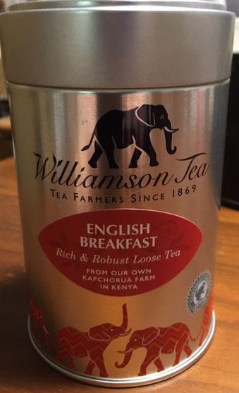 ケニア自社農園で特別に栽培された深みのある茶葉です 一日を通してお飲みください 税込 全商品オープニング価格 イングリッシュブレックファスト ウィリアムソン紅茶100g缶