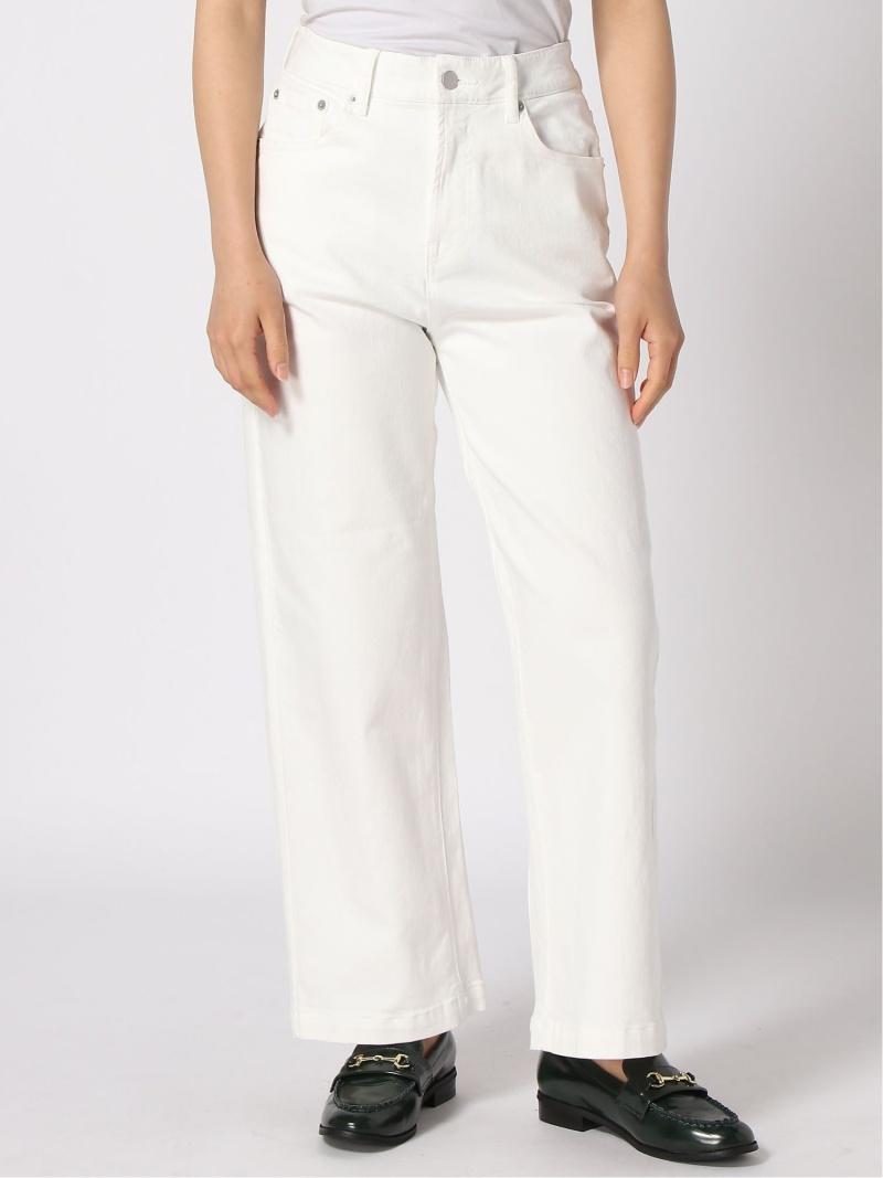Fashion ハッスイワイドデニムPT BARNYARDSTORM バンヤードストーム パンツ ジーンズ フルレングス ホワイト 送料無料OXikPZu