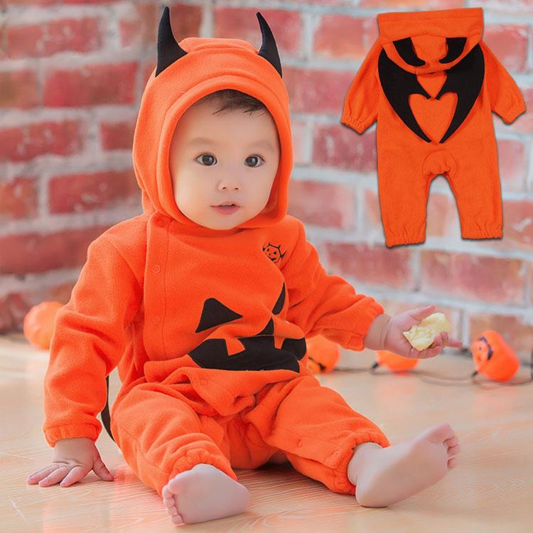 bda853e83bf79 かぼちゃ デビル 着ぐるみ 赤ちゃん コスプレ ベビー コスチューム キッズ かわいい もこもこ 男の子 女の子 赤ちゃん 新生児 ベビーウェア