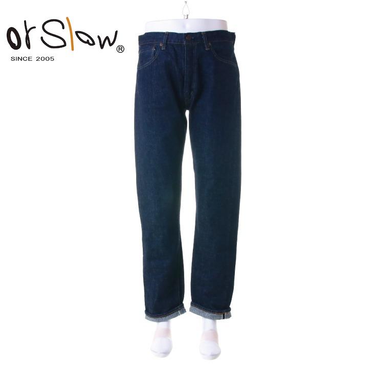 Orslow(オアスロウ) メンズ IVY FIT JEANS スリムフィット セルビッジ デニム 「107」 01-0107