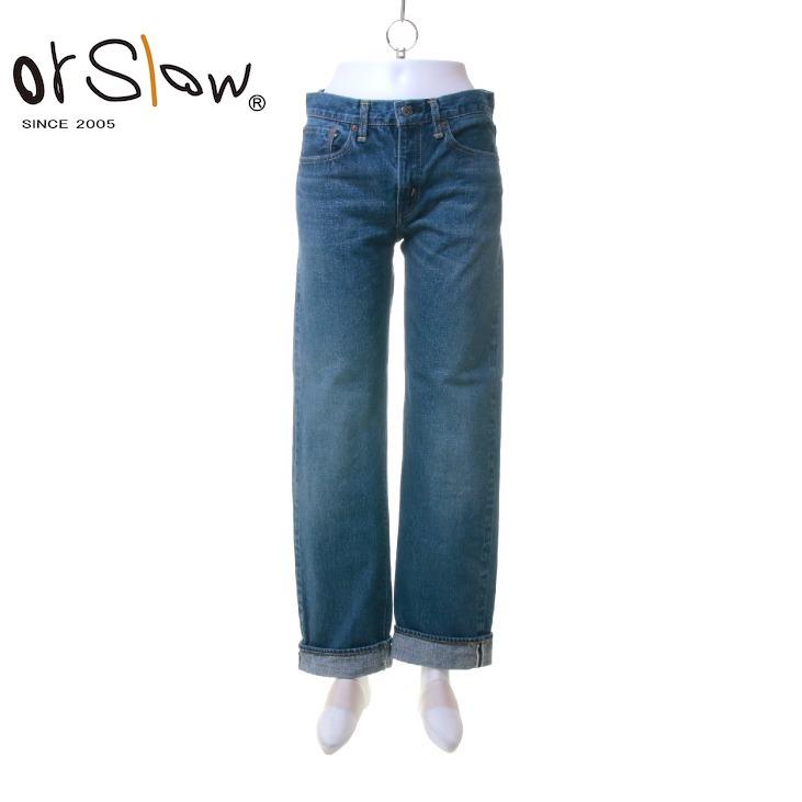 【期間限定 ★ 10%OFF + ポイント5倍】 Orslow(オアスロウ) レディース オリジナルスタンダード 5ポケット デニムパンツ Denim 2year Wash 00-1050