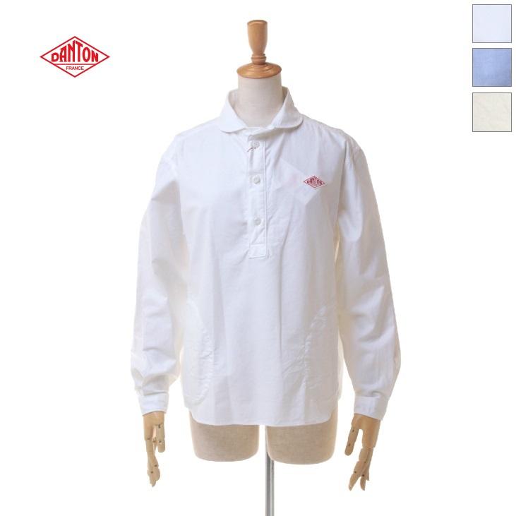 DANTON(ダントン) レディース オックスフォード ラウンドカラー 長袖 L/S プルオーバーシャツ JD-3564YOX 日本正規代理店商品
