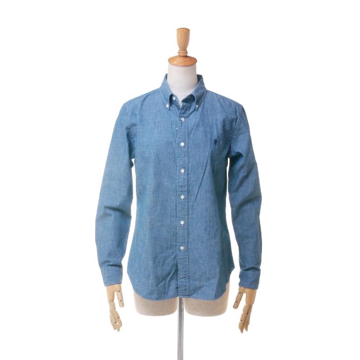 Gymphlex(ジムフレックス) レディース 長袖 シャンブレー ボタンダウンシャツ #J-0872 COD