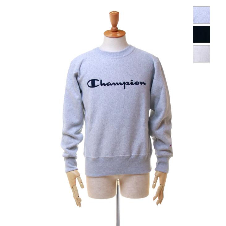 Champion(チャンピオン) メンズ ロゴ刺繍 リバースウィーブ (青タグ) クルーネック スウェットシャツ (11.5oz) C3-L007