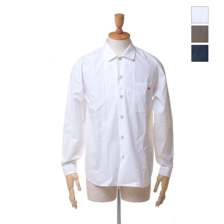 DANTON(ダントン) メンズ 無地 ソリッド ウォッシュドブロード 長袖 ロングスリーブ オープンカラー シャツ JD-3682 TYO 日本正規代理店商品