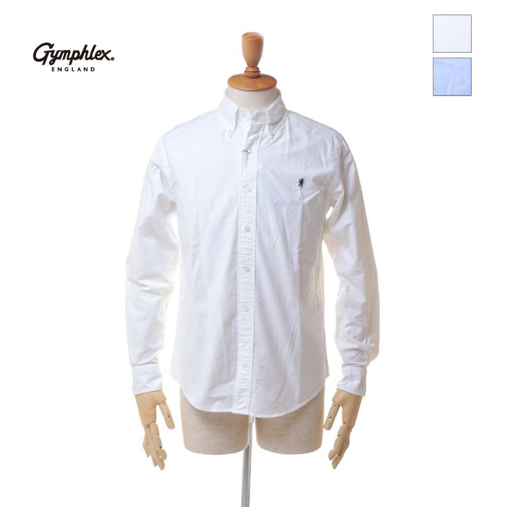 Gymphlex(ジムフレックス) メンズ 長袖 オックスフォード ボタンダウンシャツ #J-0643 YOX 2019秋冬/新作