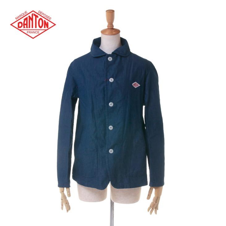 DANTON(ダントン) レディース 丸襟 デニム ラウンドカラー シングルジャケット JD-8711 DIN 日本正規代理店商品