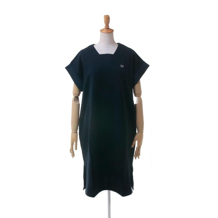FRED PERRY(フレッドペリー) レディース ガセット ネックライン スウェット カットドレス ワンピース GUSSET NECK SWEAT DRESS F8422