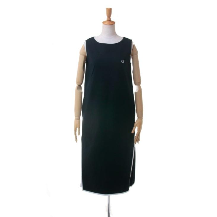 FRED PERRY(フレッドペリー) レディース ボートネック ノースリーブ ドレス ワンピース SLEEVELESS DRESS F8423