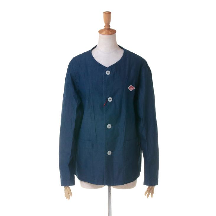 DANTON(ダントン) メンズ デニム ノーカラー ワークジャケット JD-8883 DIN 日本正規代理店商品