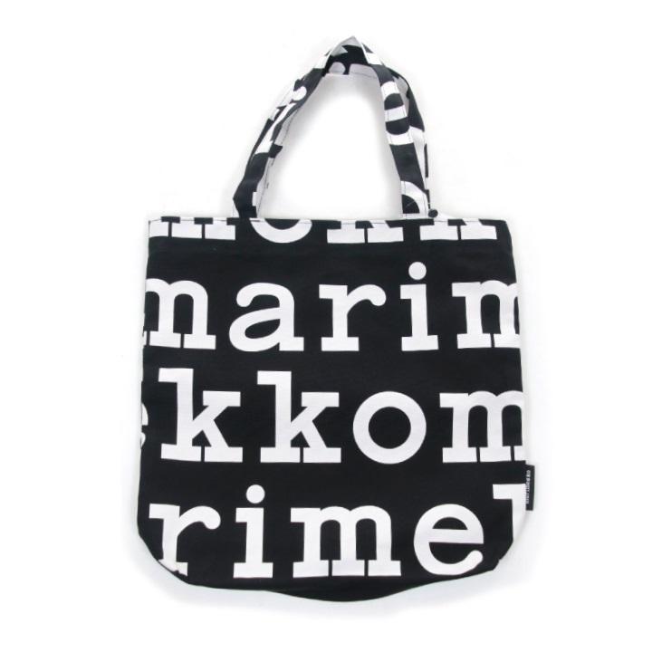 marimekko(マリメッコ) ノトゥコ ロゴ コットンキャンバス トートバッグ Notko Logo 52199247312 日本正規代理店商品