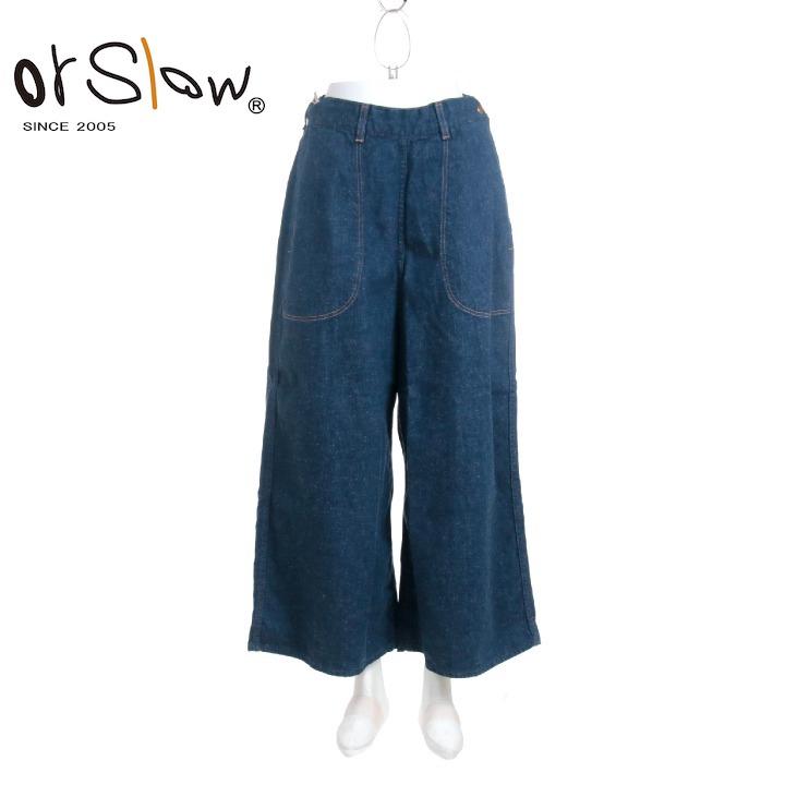 Orslow(オアスロウ) レディース デニムバギーランチパンツ 00-7023