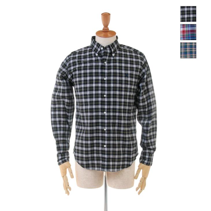 Gymphlex(ジムフレックス) メンズ マドラスチェック 長袖 ボタンダウンシャツ J-0643 BGM 2019春夏/新作