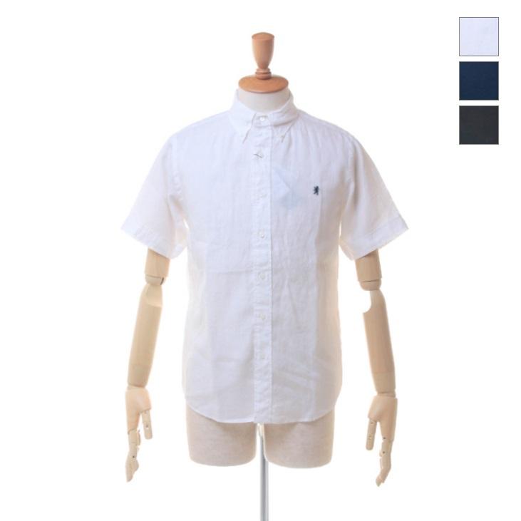 Gymphlex(ジムフレックス) メンズ リネンクロス 半袖 ボタンダウンシャツ #J-0937 KLS 2019春夏/新作