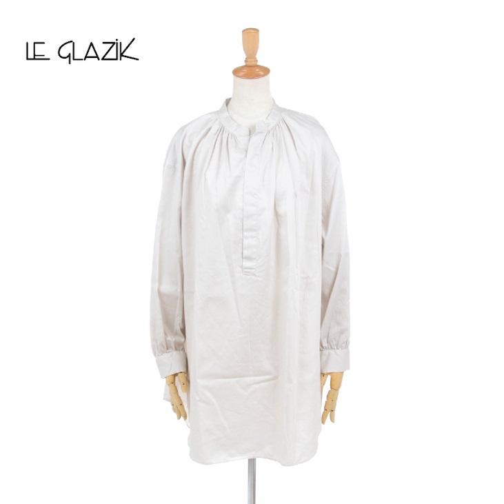 Le glazik(ル グラジック) レディース 無地 ソリッド プルオーバー ギャザーネックチュニック JL-3779KYM 2020秋冬/新作