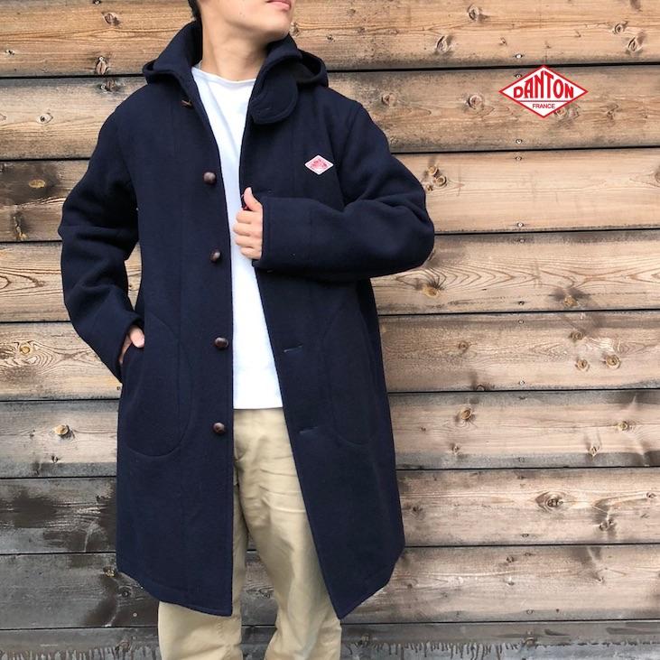 2WAYフードコート 2020秋冬/新作 メンズ DANTON(ダントン) JD-8075WOM 日本正規代理店商品 ウールモッサ