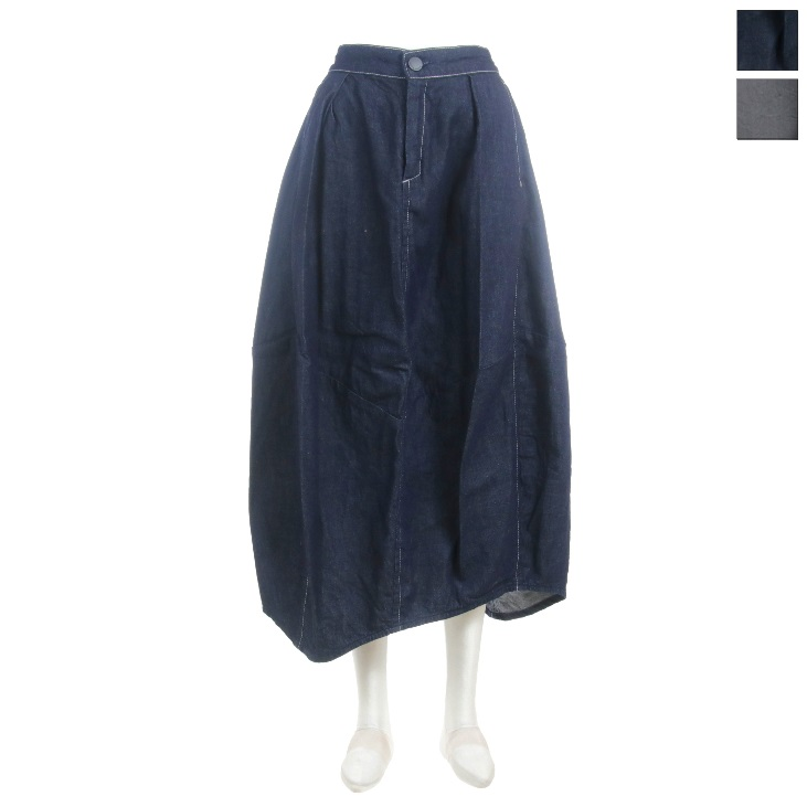 Antgauge(アントゲージ) レディース シモレコクーンアシンメトリースカート IDデニム GE370 2020春夏/新作