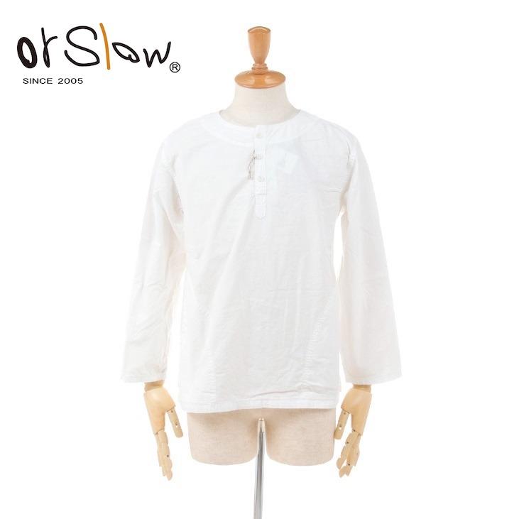 【期間限定 ★ 10%OFF + ポイント5倍】 Orslow(オアスロウ) ユニセックス メンズ レディース ホワイト シャンブレー プルオーバーシャツ WHITE CHAMBRAY PULLOVER SHIRT 03-8044 2020春夏/新作