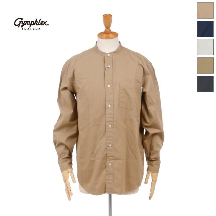 Gymphlex(ジムフレックス) メンズ ツイルバイオウォッシュ 長袖 バンドカラーシャツ J-1352VTW 2020秋冬/新作
