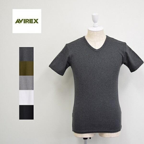 メンズ 訳あり商品 AVIREX アビレックス 半袖 Vネック 6143501 Tシャツ 人気急上昇 デイリー 無地