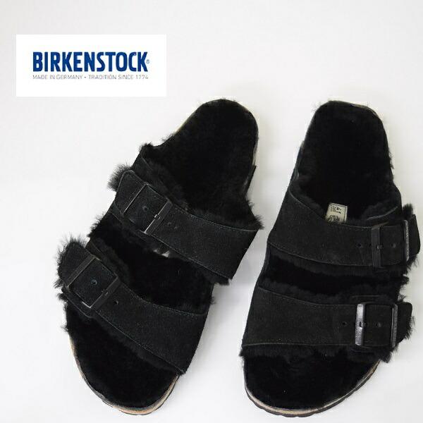 メンズ/BIRKEN STOCK ビルケンシュトック/ARIZONA スウェード アリゾナ ファーライナー BLACK 黒/752661