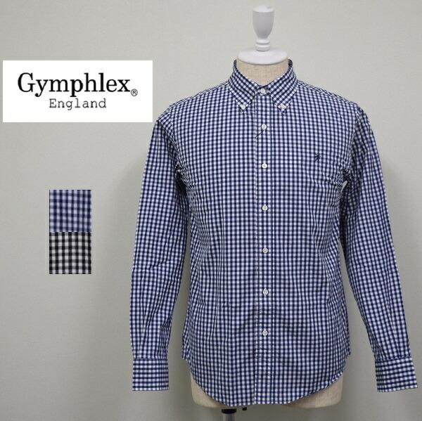 メンズ/Gymphlex ジムフレックス/長袖 ボタンダウン ギンガムチェック シャツ/J-0643GSC