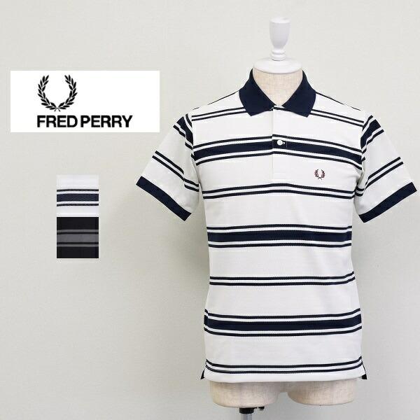 メンズ/Fred Perry フレッドペリー/半袖 鹿の子 ボーダー ポロシャツ/F1702
