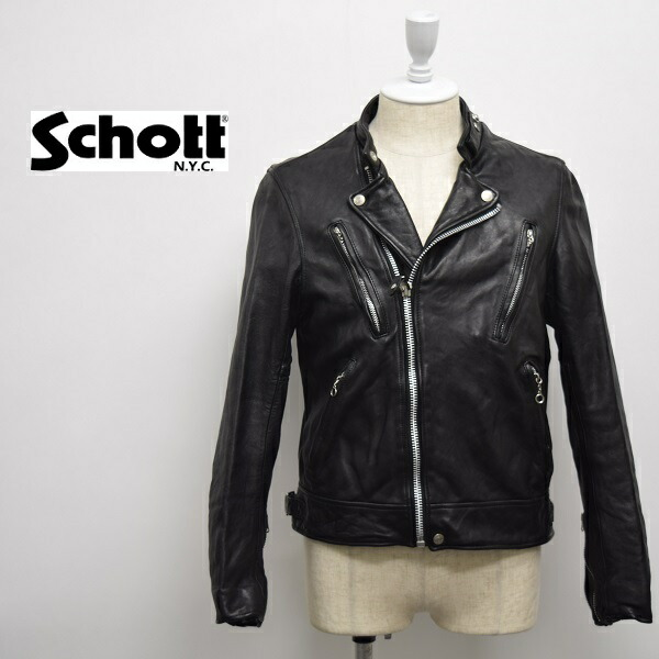 メンズ Schott 正規店 ショット 定番の人気シリーズPOINT ポイント 入荷 ダブル ライダース 羊革 3181067 ジャケット レザー