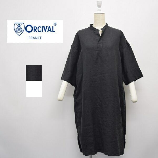 レディース/ORCIVAL  オーシバル オーチバル/ スタンドカラー リネン  ワンピース /RC-3705YLM