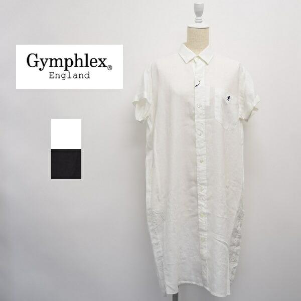 レディース/Gymphlex ジムフレックス/半袖 リネン シャツ ワンピース 麻/J-1098KLS
