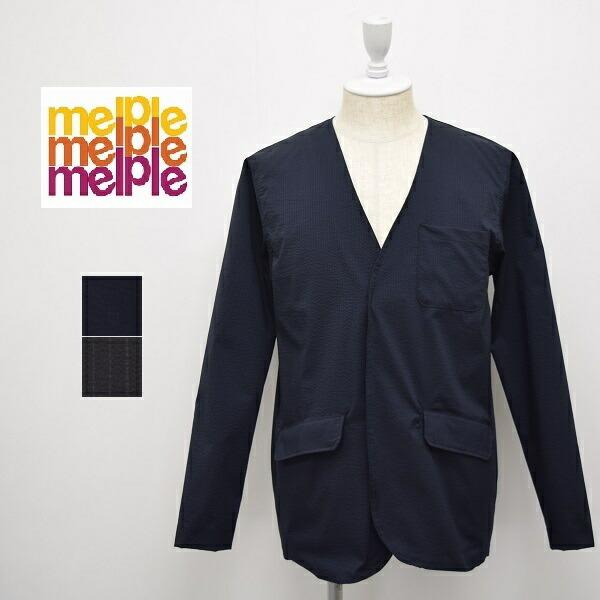 メンズ/melple メイプル/シアサッカー ノーカラー ジャケット/19SM-MP011