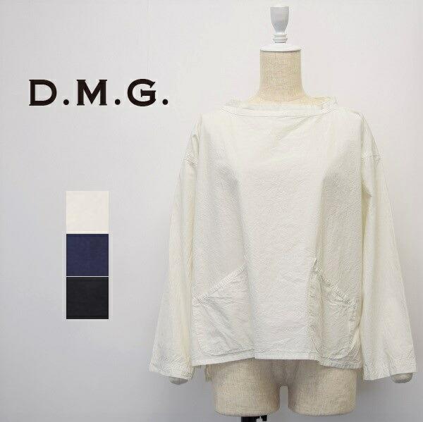 レディース/D.M.G ディーエムジー DOMINGO ドミンゴDMG/ボートネック スタンドカラー ワイド プルオーバー シャツ/16-0573X