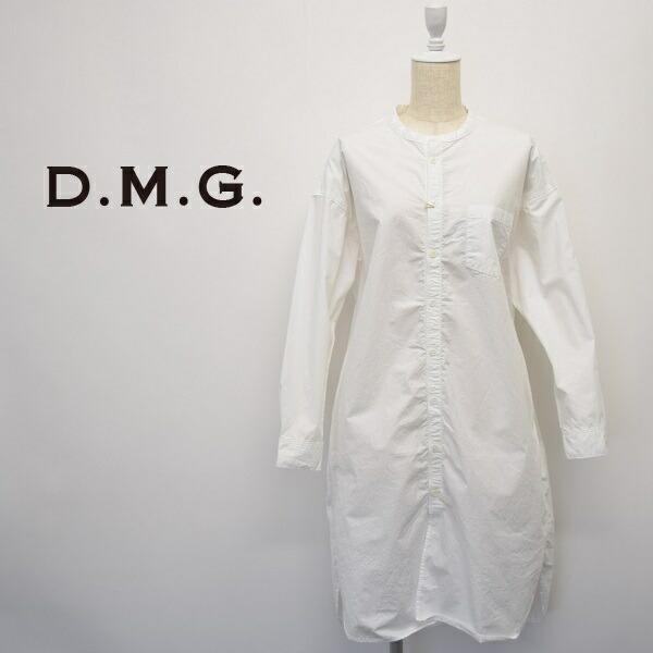 レディース/D.M.G ディーエムジー DOMINGO ドミンゴDMG/スタンドカラー シャツ ワンピース/16-0553X