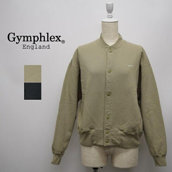レディース/Gymphlex ジムフレックス/長袖 羽織 スナップボタン  スウェット 裏パイル/J-1385