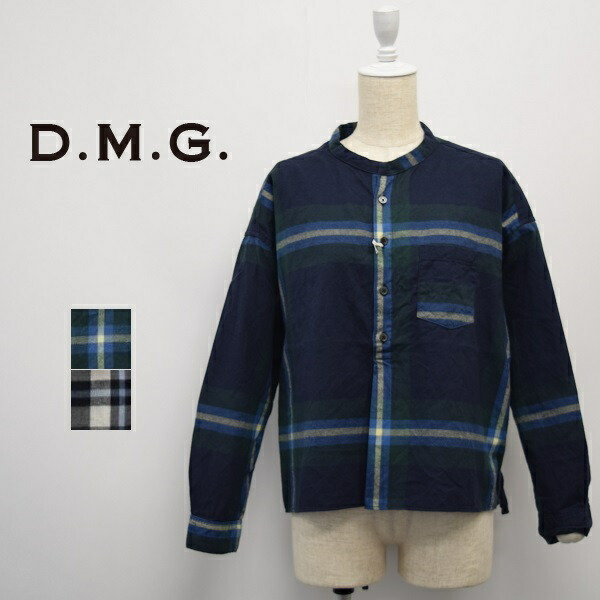 レディース/D.M.G ディーエムジー DOMINGO ドミンゴDMG/スタンドカラー ワイド チェック ビエラシャツ/16-568T