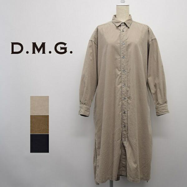 レディース/D.M.G ディーエムジー DOMINGO ドミンゴDMG/レギュラーカラー コーデュロイ シャツ ワンピース/16-0578H