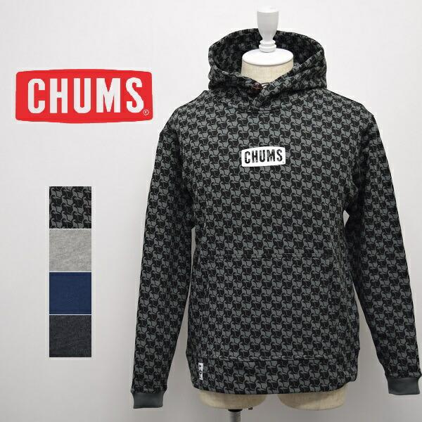 メンズ/CHUMS チャムス/ロゴ スウェット フード パーカー 裏起毛/CH00-1221