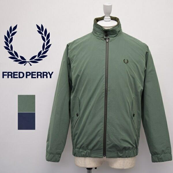 メンズ/Fred Perry フレッドペリー/ドッグイヤー カラー フルジップ スウィングトップ フード付き ブルゾン/F2626