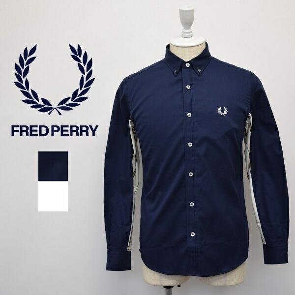 メンズ 宅配便送料無料 Fred Perry フレッドペリー 長袖 ボタンダウン 切り替え ファッション通販 シャツ ストライプ F4545