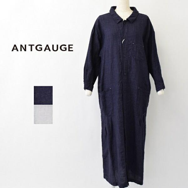 レディース/ANTGAUGE アントゲージ/ワイドシルエット リネン ロング シャツ ワンピース/GB248